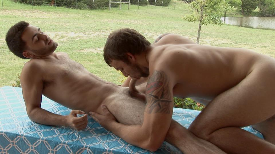 Southern-Strokes-Josh-and-Logan-Hairy-Texas-Twinks-Fucking-Outside-Amateur-Gay-Porn-08 Hairy Texas Twinks Share an Outdoor Fucking At The Ranch
